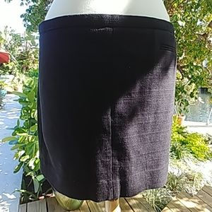 Black woven mini skirt